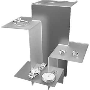 4 large jewelry display risers frosted white for Best selling jewelry on amazon