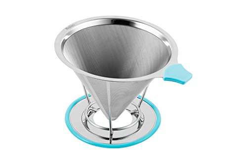 Coffee-Filter-Cone-Stainless-Steel-Coffee-Dripper-Perfect-for-Pour-Over-Coffee-Maker-Eco-and-Environmentally-Safe-100-Reusable-Filters-Serves-1-2-Cups