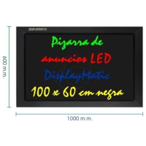 ecrans de projection cablematic ardoise lumineuse led display board displaymatic 100 x 60 cm noir. Black Bedroom Furniture Sets. Home Design Ideas