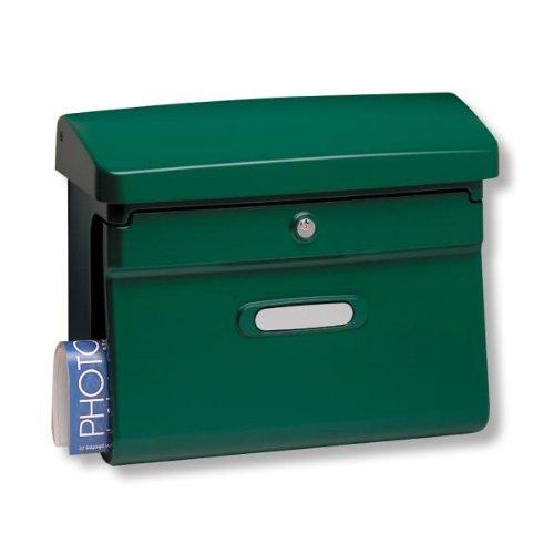 burg w chter briefkasten aus hochwertigem kunststoff bremen 885 gr gr n. Black Bedroom Furniture Sets. Home Design Ideas