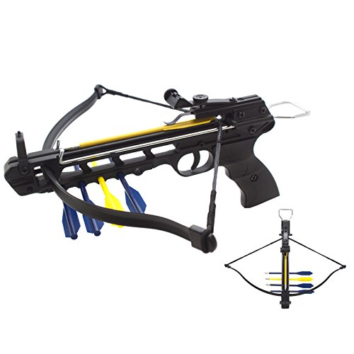 50lbs Aluminum Handheld Pistol Crossbow  Integrated