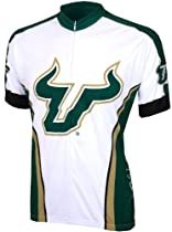 NCAA South Florida Cycling Jersey  White/Green, X-Large