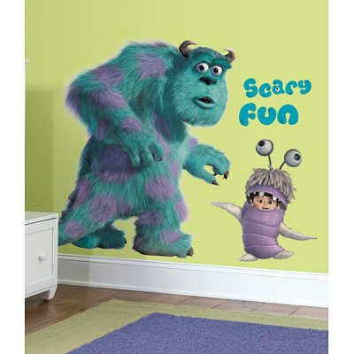 Monsters Inc Giant Sully & Boo Wall Decals