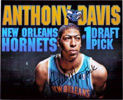 Signed Davis, Anthony (New Orleans Hornets) 8x10 Photo autographed by Powers+Collectibles