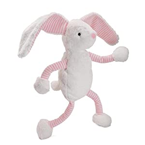 "North American Bear Company Baby Long Legs 18"" Plush Toy, Pink Bunny"