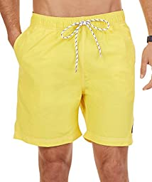 Nautica Men\'s Quick Dry Solid Swim Trunk, Sunfish Yellow, XX-Large