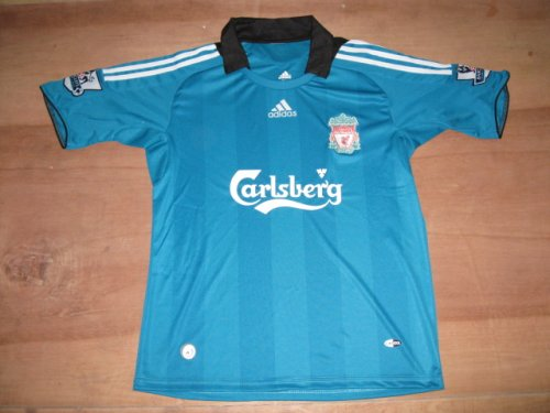 08-09 LIVERPOOL AWAY JERSEY NEW WITH TAGS + FREE SHORT (SIZE M)