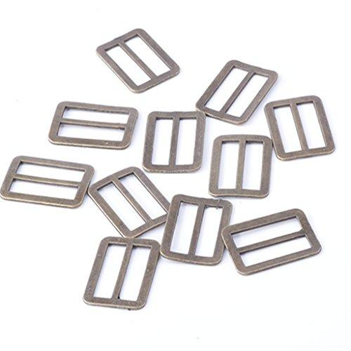 20pc Bronze Copper Metal Ring Buckle DIY Luggage Belt Shoe Slide Make Tool Diy Inside Width 20mm