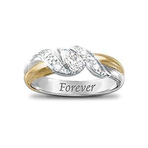 heaven s embrace white topaz bereavement ring