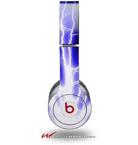 Lightning Blue Decal Style Skin (Fits Genuine Beats Solo Hd Headphones - Headphones Not Included)