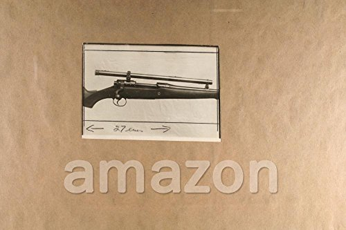 Vintage Photo of GUN WITH MALCOM TELESCOPE Post Card (KR159)