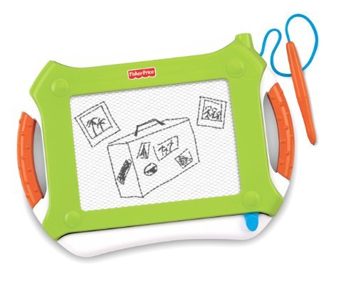 Mess Free Drawing For On The Go - Fisher-Price Travel Doodler Pro - Green