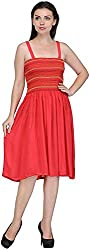 R&V Women's A-Line Dress (Coral)