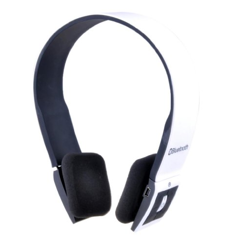 Patuoxun White Sports Wireless Stereo Bluetooth Headset Headphones for iPhone 5S 5C 5 4S iPad iPod Samsung Galaxy S 1 2 3 4 Note 1 2 3 other Bluetooth Phones Tablest PC--Over-the-Head Noise Canceling, Adjustable Headband, Supports Wireless Music Streaming, Hands-Free calling and Rechargeable Patuoxun Bluetooth Headsets autotags B00FJ0K542