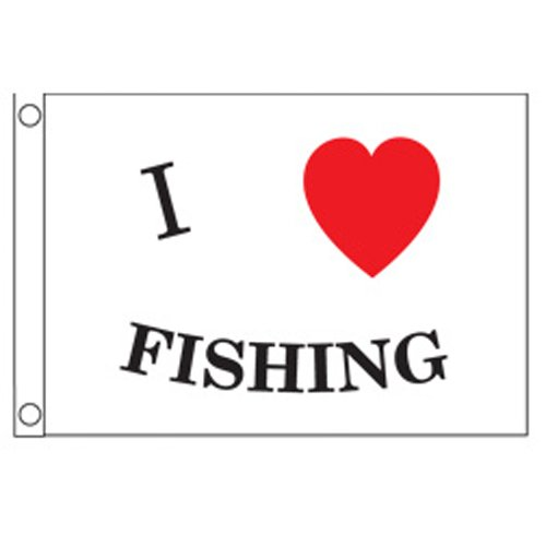 Image of Taylor Made Products I Love Fishing Boat Flag (12