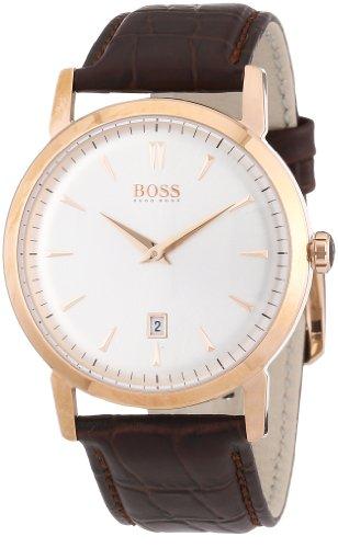 Hugo Boss 1512634 - Reloj analógico de cuarzo para hombre con correa de piel, color marrón