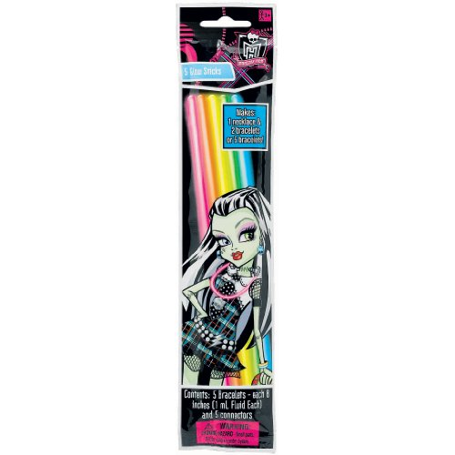 "Amscan Freaky Fab Monster High Wearable Birthday Party Favors Wearable Glow Stick (1 Piece), Pink/Orange/Yellow/Green/Blue, 8"" - 1"