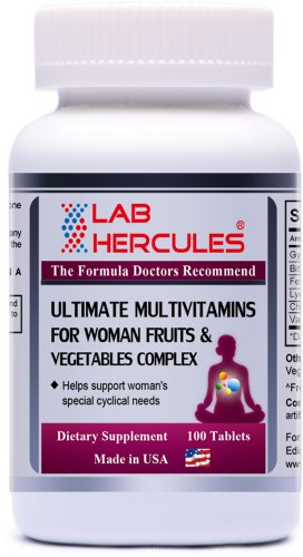 Hercules Ultimate Multivitamins For Woman Fruits & Vegetables Complex 100 Tablets
