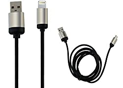 Speed Highest Quality 1.5 Meter Long Metal Charging cable for Iphone Ipad Colour Black