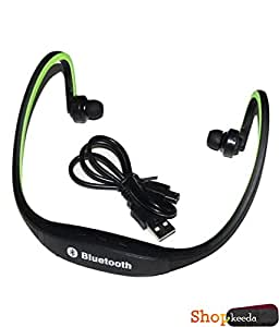 Xelectron V1277 COMPATIBLE BS19 Wireless Bluetooth On-ear Sports Headset Headphones (with Micro Sd Card Slot and FM Radio) GREEN