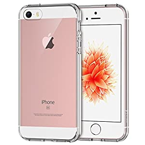 iPhone 5/5S Case, Clear Protective Transparent Slim Case Anti-Scratch Ultra Thin Felxible Premium TPU Cover Stylish Bumper Case[1pc HD SP + Cleaning Cloth Included] from Generic