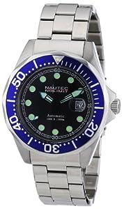 Nautec No Limit Herren-Armbanduhr Deep Sea Bravo Analog Automatik Edelstahl DSB AT/STSTBLBK