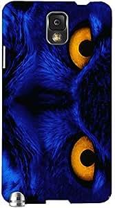 Remarkable 3D multicolor printed protective REBEL mobile back cover for Samsung Note-3 - D.No-DEZ-1332-n3