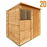 BillyOh 7'x5' Rustic Overlap Pent Wooden Garden Shed
