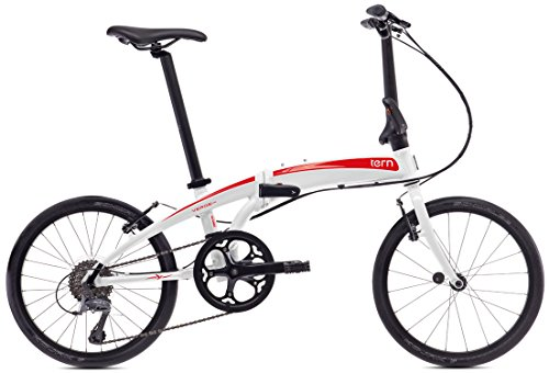 tern (turn) Verge N8 in 2015-20 inch folding bicycle [8 speed, Asia Limited model] white / red 15VRN8WHRD
