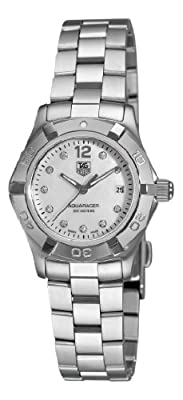 TAG Heuer Women's WAF1415.BA0824 Aquaracer 28mm Stainless Steel Diamond Dial Watch