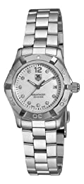 Tag Heuer Women s WAF1415 BA0824 Aquaracer 27mm Stainless Steel Diamond Dial Watch