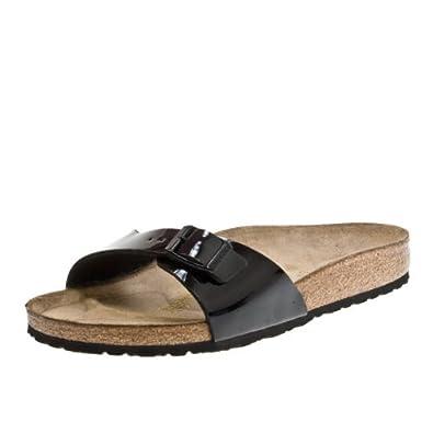 birkenstock madrid women schwarz lack black birko flor sandals 840981. Black Bedroom Furniture Sets. Home Design Ideas
