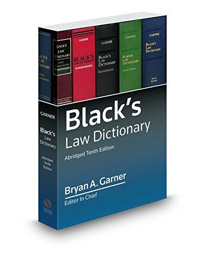 Blacks Law Dictionary 10th; Abridged [Bryan A. Garner] (Tapa Blanda)