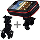 Samsung i9070 Galaxy S Advance Water-Resistant Bike Holder with X-Large Universal Adjustable Bike / Golf Trolley / Pram Mount by Shocksock