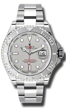 Rolex Yacht-Master Platinum Dial Steel and Platinum Mens Watch 116622PLSO
