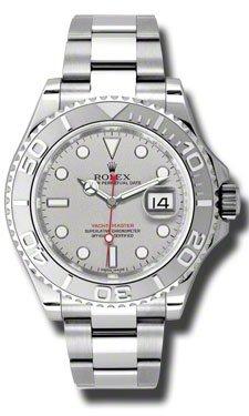 Rolex Yacht-Master Platinum Dial Steel and Platinum Mens Watch 116622PLSO