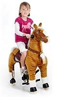 Spielzeug-Pferd Galoppo zum Reiten für Kinder in braun von AHOWA