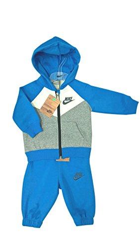 Nike -  Tuta da ginnastica  - Parka - ragazzo Blue-white 6 mesi