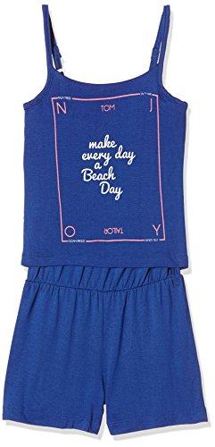 TOM TAILOR Kids - jumpsuit with print at front, Tuta intera Bambina, Blu (deep ultramarine blue 6726), 7 anni (Taglia Produttore: 128)