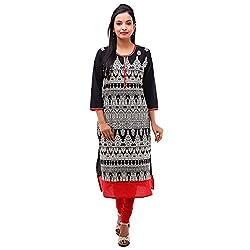 Kyaara Womens Cotton Ethnicwear Kurta (Ky00504R_M_Black)