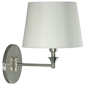 Kenroy Home 32180BS Martin Wall Swing Arm Lamp