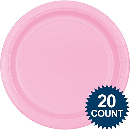 """10 1/2"""" New Pink Paper Plates 24 per pack"""