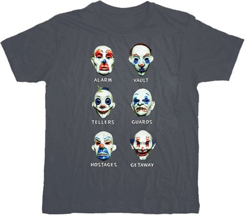 Batman Dark Knight Goon Clown Masks Gray T-shirt Tee