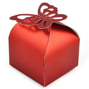 TRIXES 50Pcs Wedding Favour Boxes Bridal Showers Parties Gifts Table Decoration