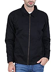 Plutus COT001-XL-BLK Cotton Full Sleeve Riding Jacket
