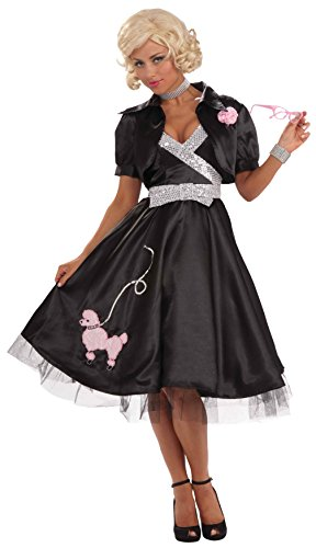 Forum Novelties Women's Flirtin' with The 50's Poodle Diva Costume Dress