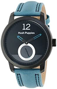 Hush Puppies Freestyle Men's Automatic Watch with Black Dial Analogue Display and Blue Leather Strap HP.3780M.2503