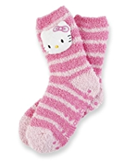 Hello Kitty Cosy Striped Slipper Socks