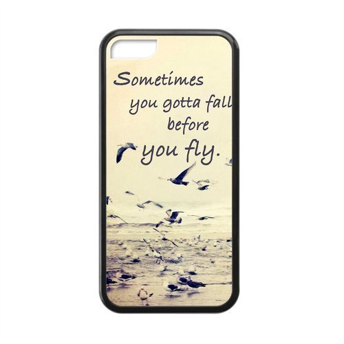 Elegant Retro Sometimes You Gotta Fall Quote Phone Case [Customizable by Buyers] [Create Your Own Phone Case] Slim Fitted Hard Protector Cover for Samsung Galaxy S5
