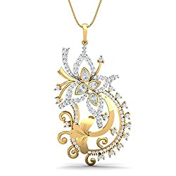 KuberBox 14k Yellow Gold Diamond Pendant